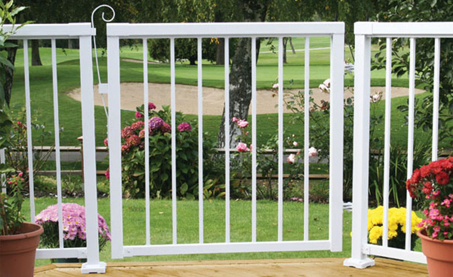 White-Narrow-Picket-Gate-with-Railing