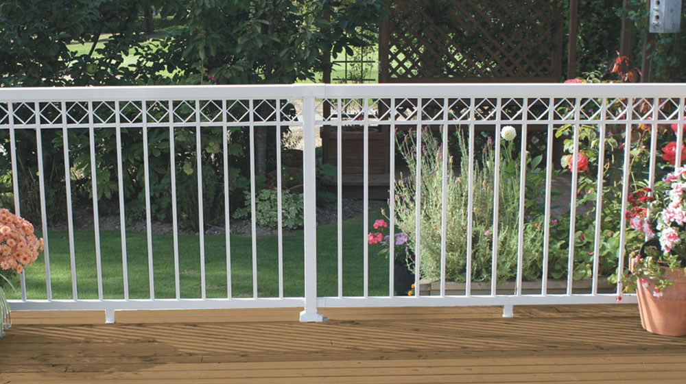 White-Narrow-Picket-Railing-with-decorative-spacers-on-deck