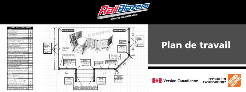 Plan de travail les rampes en aluminium railblazers for Comment installer un plan de travail