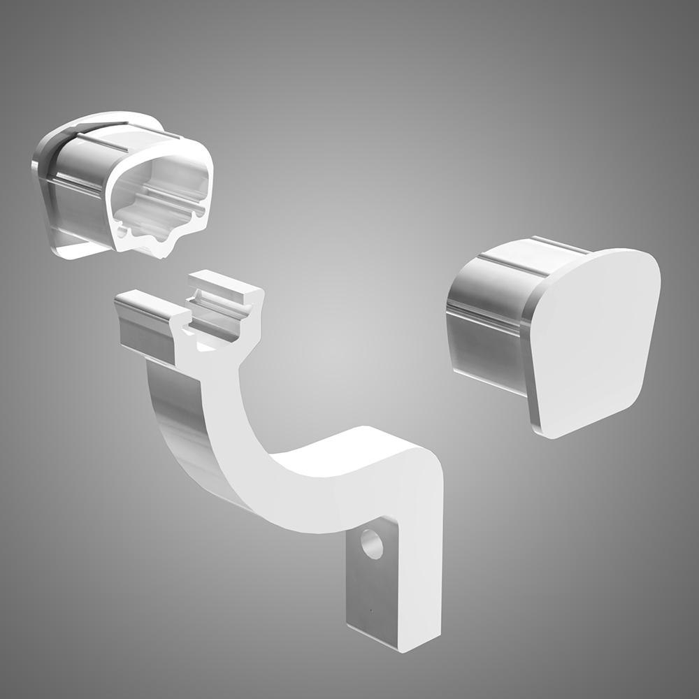 Install Connectors Amp Brackets Handrail Railblazers