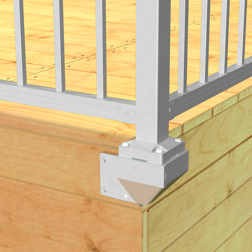 Install Connectors & Brackets | RailBlazers Aluminum Railing